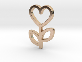 Love Rose Pendant - Amour Collection in 14k Rose Gold Plated Brass