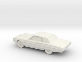 1/87 1964 Ford Thunderbird  in White Natural Versatile Plastic