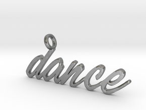 Dance Pendant DANCE!!! in Raw Silver