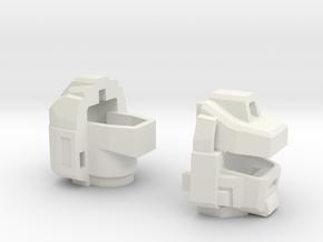"Generations Magnawheeler's Head ""G1"" in White Natural Versatile Plastic"