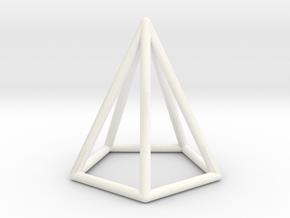 Pyramid Pendant in White Processed Versatile Plastic