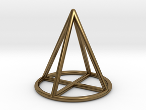 Cone Geometric Pendant in Polished Bronze