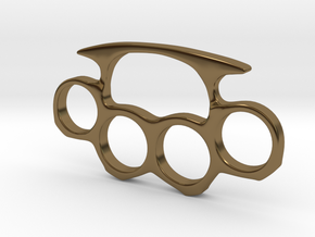 Brass Knuckles Miniature in Polished Bronze