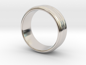 Ø16.51 Mm Ring Ø 0.650 Inch Model B in Rhodium Plated Brass