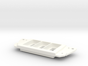 Narrow 3 Switch Plate Compatible for Toyota Tacoma in White Processed Versatile Plastic