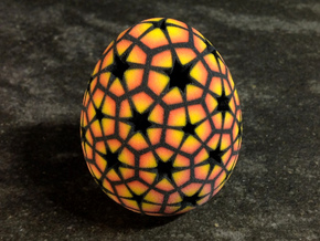Mosaic Egg #14 in Aluminum