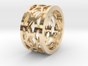 Py Ring - Male in 14K Yellow Gold: Small