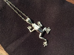 Poison Arrow Frog Pendant in Polished Silver