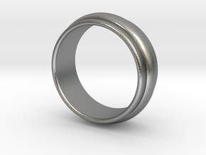 Ø 19.62 Mm Classic Beauty Ring Ø 0.772 Inch in Natural Silver