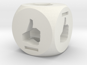 Thumbs Up Dice in White Natural Versatile Plastic