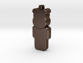 OpenSimulator Pendant  in Polished Bronze Steel