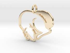 Puppy Love Pendant in 14K Yellow Gold
