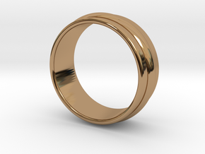 Ø 15.7mm Classic Beauty Ring Ø .618 Inch in Polished Brass