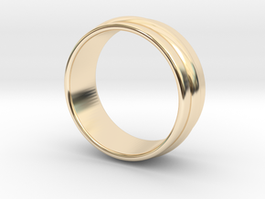 Ø 15.7mm Classic Beauty Ring Ø .618 Inch in 14k Gold Plated Brass