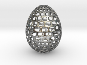 Running - Decorative Egg - 2.3 inches in Fine Detail Polished Silver