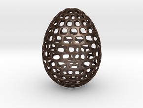 Running - Decorative Egg - 2.3 inches in Matte Bronze Steel