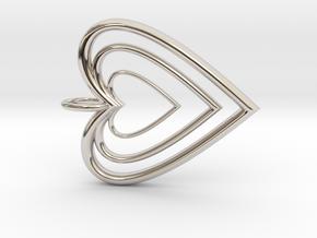 3H Pendant  in Platinum
