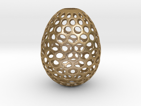 Aerate - Decorative Egg - 2.2 inches in Polished Gold Steel