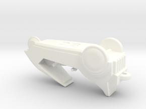 C5 Small Keyring in White Processed Versatile Plastic