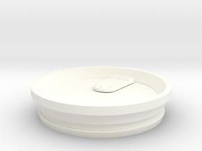 Splash proof Yeti Lid in White Processed Versatile Plastic