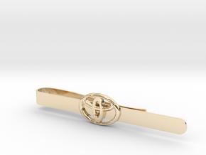 Luxury Totoya tie clip in 14k Gold Plated Brass