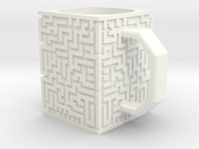 Maze Mug in White Processed Versatile Plastic