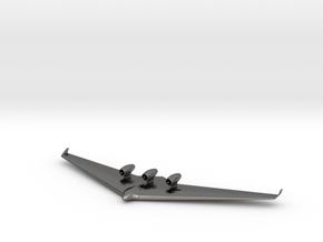Blended Wing Body-3 in Polished Nickel Steel