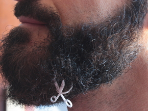 Scissors for beard - lateral wearing in White Natural Versatile Plastic