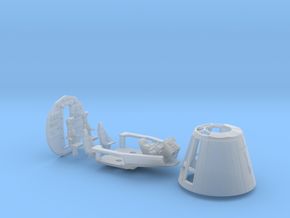 BLOCKADE RUNNER STUDIO SCALE CONE COCKPIT BACKWALL in Smooth Fine Detail Plastic