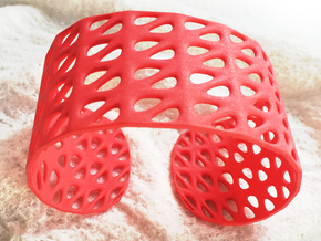 Generative Bracelet, size M in Red Strong & Flexible Polished