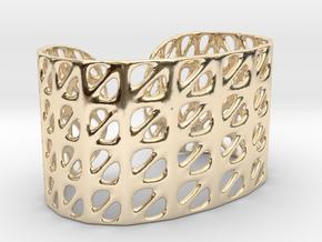 Bracelet, Generative Pattern, size M in 14k Gold Plated Brass