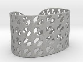 Bracelet, Generative Pattern, size M in Aluminum