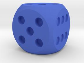 D6 Balanced Dice in Blue Processed Versatile Plastic