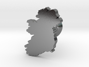 Ireland cufflink  in Polished Silver