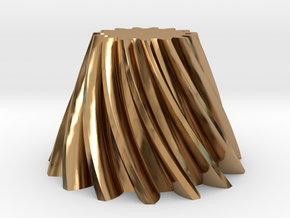 Bevel helical gear Module 4 in Polished Brass