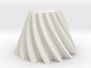 Bevel helical gear Module 4 in White Natural Versatile Plastic