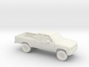 1/87 1988-97 Toyota Hilux in White Natural Versatile Plastic