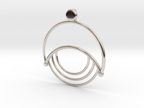 Modern Moon Pendant in Rhodium Plated Brass