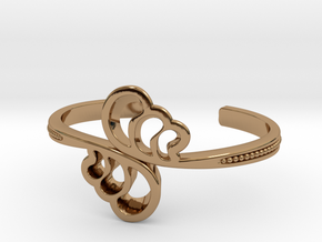 Wave Cuff Bracelet in Polished Brass
