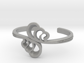 Wave Cuff Bracelet in Aluminum