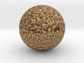 DRAW geo - sphere alien egg golf ball in Natural Brass: Small