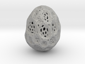 DRAW geo - alien egg 2 in Aluminum: Small