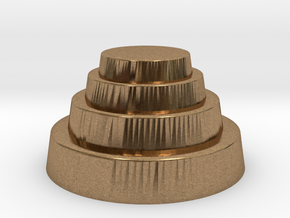DRAW geo - terraced dome in Natural Brass: Small