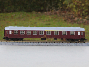 DSB class AB coach N scale in Smooth Fine Detail Plastic