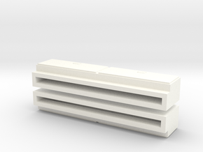 "1/64 Side Tool Box - 1.35"" long in White Processed Versatile Plastic"