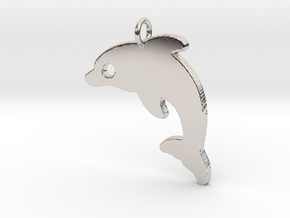 Dolphin V2 Pendant in Rhodium Plated Brass