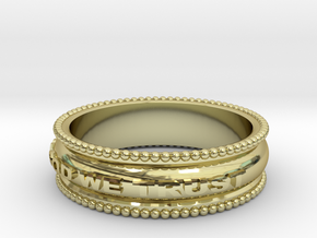 In God We Trust Band in 18k Gold Plated
