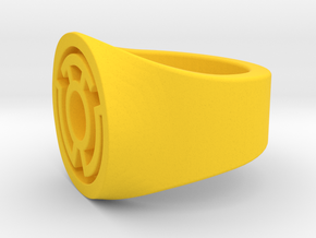 Yellow Lantern Ring S9.5   V2 in Yellow Processed Versatile Plastic: 9.5 / 60.25