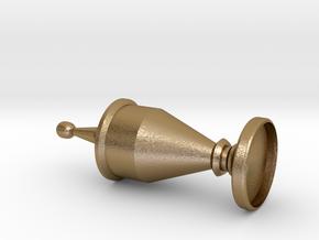 Fullsizecabfinialmm in Polished Gold Steel