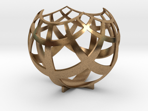 Grid (stereographic projection) in Raw Brass